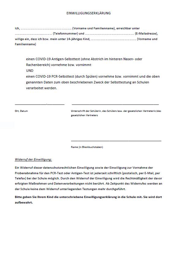 Einwilligungserklärung Testungen PCR Antigen_SJ 2ß21/22